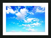 Bright Sky Blue with Clouds Colorful Scenic Background Picture Frame print