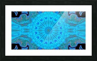 Blue Wildflower in Light Picture Frame print