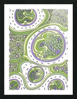 Wandering Abstract Line Art 06: Green Picture Frame print