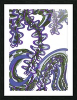 Wandering Abstract Line Art 07: Purple Picture Frame print