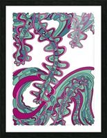 Wandering Abstract Line Art 07: Green Picture Frame print