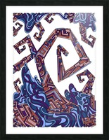 Wandering Abstract Line Art 08: Purple Picture Frame print