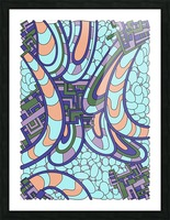Wandering Abstract Line Art 09:  Picture Frame print