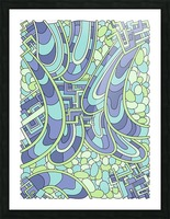 Wandering Abstract Line Art 09: Green Picture Frame print