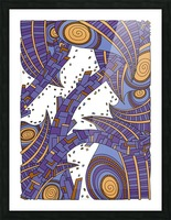 Wandering Abstract Line Art 10: Purple Picture Frame print