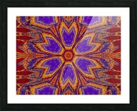 Orange and Blue Dawn Picture Frame print