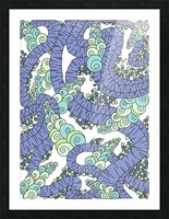 Wandering Abstract Line Art 13: Periwinkle Picture Frame print
