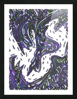 Wandering Abstract Line Art 14: Purple Picture Frame print