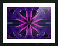 Pink Glow Wildflower Picture Frame print