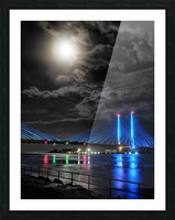 Blood Moon over the Indian River Bridge Picture Frame print
