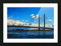 South Stanchions of the Indian River Inlet Bridge Picture Frame print