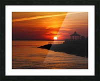 Sunset Over Indian River Inlet And Bay Picture Frame print