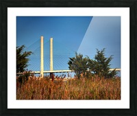 Indian River Bridge Stanchions Standing Tall Picture Frame print
