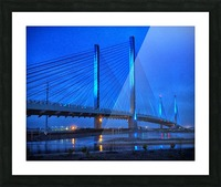 Blue Bridge In The Rain At Indian River Inlet Picture Frame print