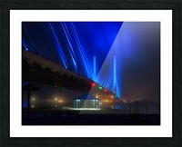 Foggy Night at the Indian River Bridge Picture Frame print