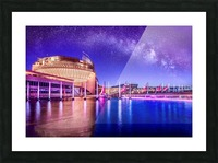 Casino Milky Way Picture Frame print