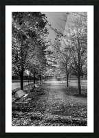 Old Port Of Montreal Autumn B&W Picture Frame print