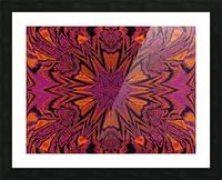 Velvet Spring Flower Picture Frame print