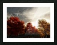 Impressionist Autumn Scene Picture Frame print