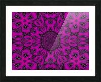 Purple Desert Song 38 Picture Frame print
