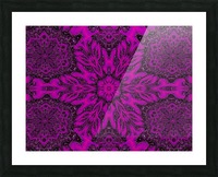 Purple Desert Song 39 Picture Frame print