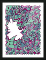Wandering Abstract Line Art 25: Magenta Picture Frame print