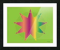 Compound Shapes With Circles Pattern 01 V2 Picture Frame print