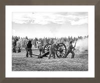 Civil War Re-enactment Picture Frame print