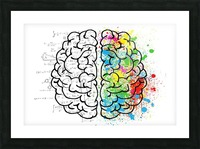 brain mind psychology idea drawing Picture Frame print