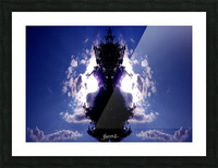 blue 2 Picture Frame print