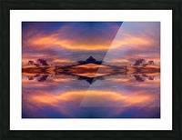 blue 7 Picture Frame print