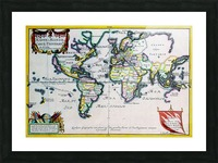 Ancient World Map 4 Picture Frame print