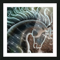 horse nature stallion equestrian Picture Frame print