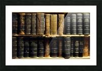books old vintage library shelves Picture Frame print
