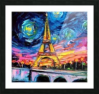 Eiffel Tower Starry Night print van Gogh Picture Frame print