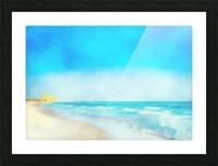 30A Coastline Picture Frame print