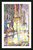 NYC_At_night_City_Scope Picture Frame print