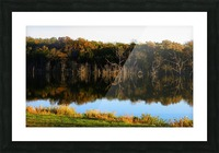 Fall Lake Picture Frame print
