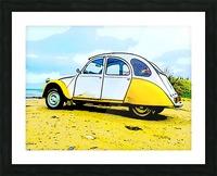Beach Car Picture Frame print