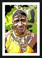 African Picture Frame print