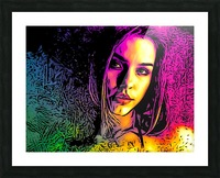 MultiColor Girl Picture Frame print