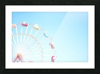 Ferris Wheel Against the Sky Picture Frame print