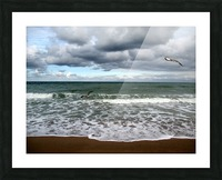 A sense of freedom by the beach Picture Frame print