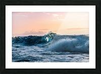 Blue Break Picture Frame print