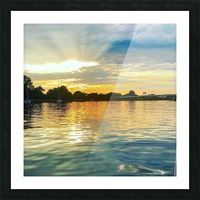 Washington Channel Sunset Picture Frame print