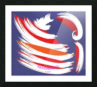 FEATHERING BY DEPACE Picture Frame print