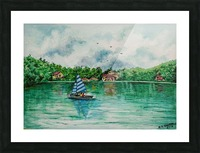 Naini lake_DKS Impression et Cadre photo