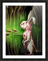 White Rabbit Picture Frame print