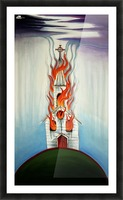 Burning Church Picture Frame print