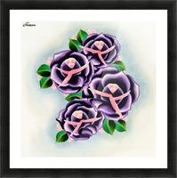 Roses Impression et Cadre photo